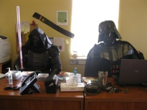 A few years ago, the teen library met with some of the Dark Side...