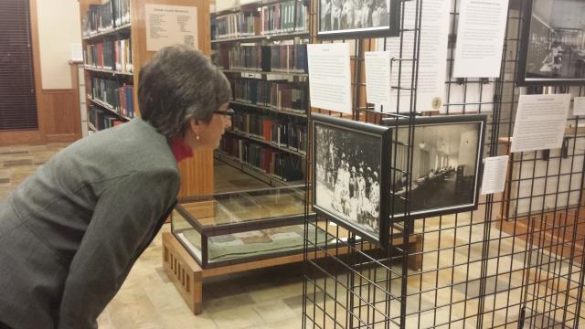 Lisa Looking at WGC Display