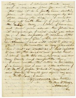 Civil War Letter 2B