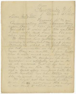 Civil War Letter 3A
