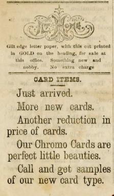 St. Joe News Cards Ad #3