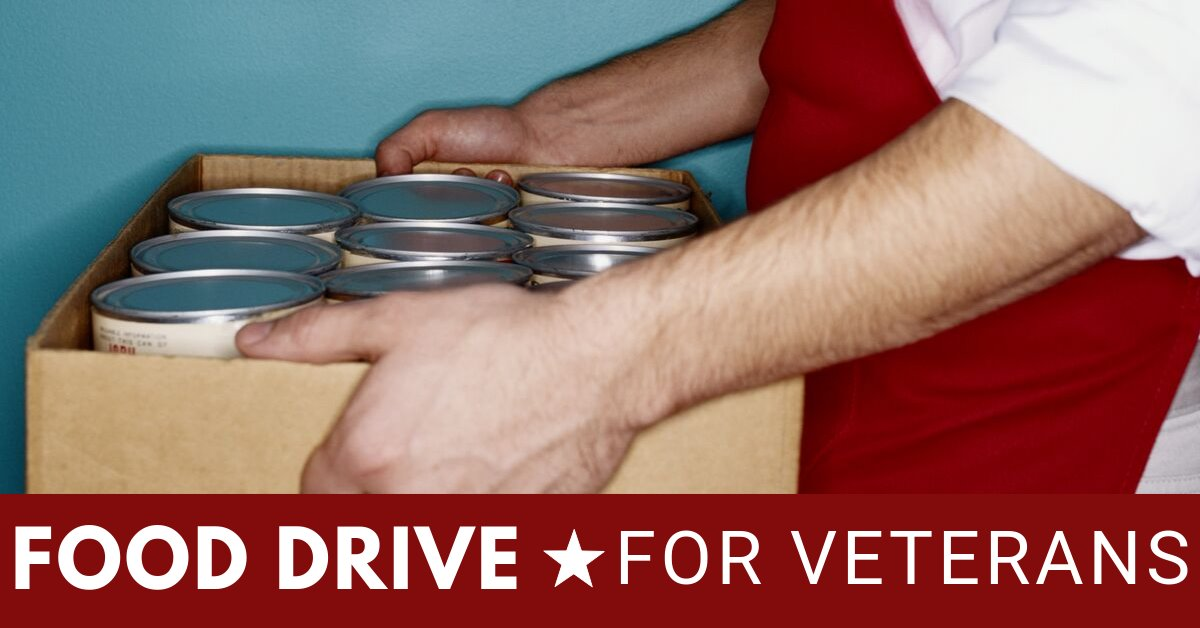 Facebook image for the Food Drive for Veterans program