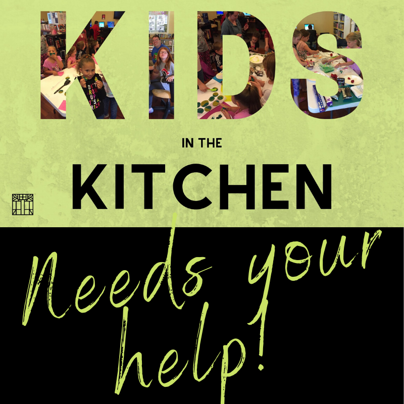 Kids in the Kitchen Needs Your Help Logo